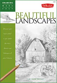 'Drawing Made Easy: Beautiful Landscapes' landscape drawing tutorials book by Diane Wright