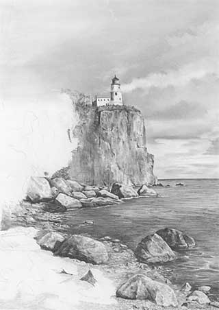 how to draw cliffs with pencil