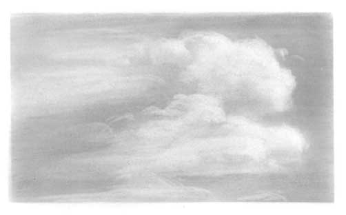 Урок рисуем небо и облака карандаш